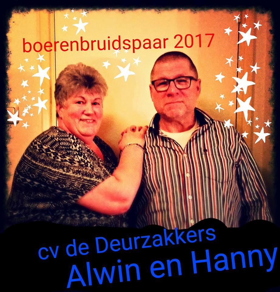 Alwin en Hanny boerenbruidspaar 2017.